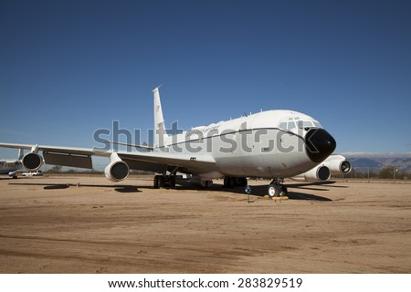 TUCSON, ARIZONA, USA - December 14, 2014: - Aircraft at Pima Air and Space Museum  in Arizona, USA