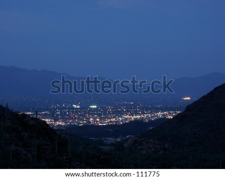 Tucson at night - stock photo