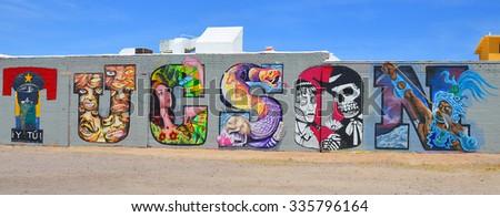 Tucson az usa april 24tucson tag stock photo 335796164 shutterstock tucson az usa april 24tucson tag on wall on april 24 2014 in tucson sciox Images