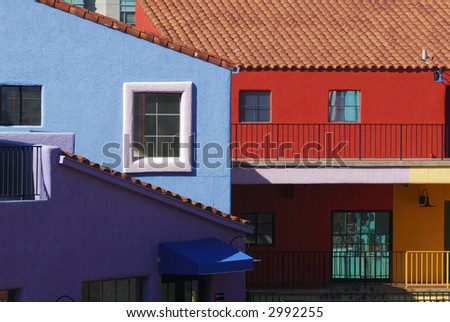 Tucson colorful buildings - stock photo
