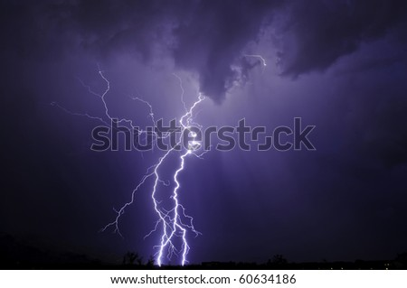 Tucson Lightning - stock photo