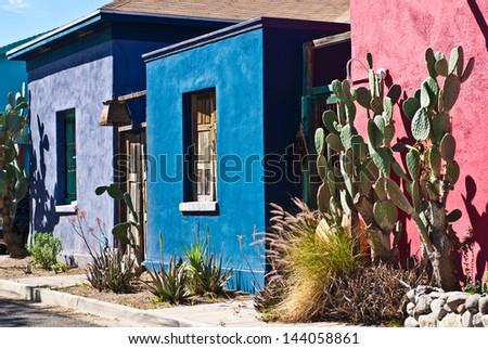 Tucson Old Barrio Historic Adobe House - stock photo