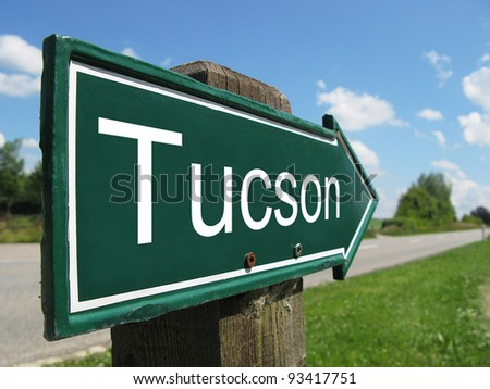 Tucson signpost along a rural road