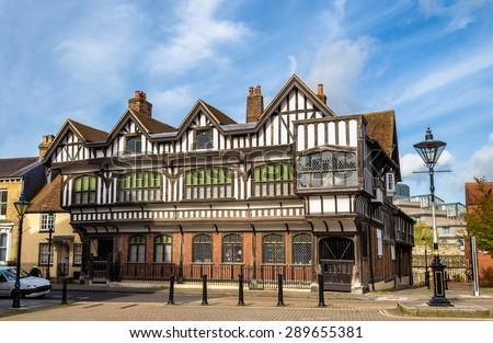 Tudor House in City Centre of Southampton, England - stock photo