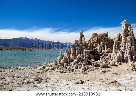 Tufa formations at Mono Lake one of the oldest lakes in North America