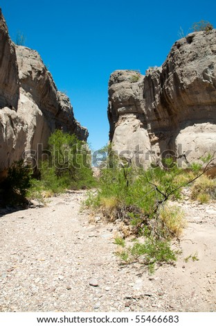 Tuffs Canyon wash