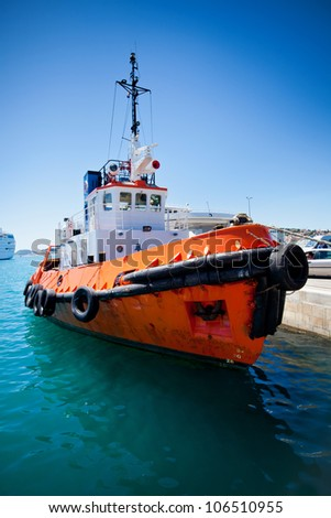 Tug boat - stock photo