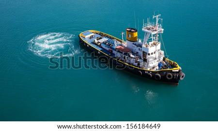 Tug Boat - stock photo