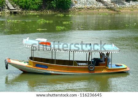 Tug boat in Thailand. - stock photo