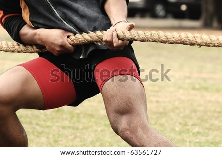 Tug of War - stock photo