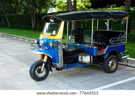 Tuk Tuk, the historical car in Thailand - stock photo