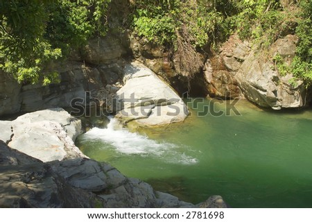 Tukurand falls on mindoro in Philippines - stock photo