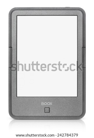 TULA, RUSSIA - DECEMBER 26, 2014: Front view of Onyx Boox C67ML Magellan 2. E-book reader produced by Onyx International Inc. and uses electronic paper technology