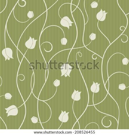 Tulip - seamless pattern. Illustration - stock photo