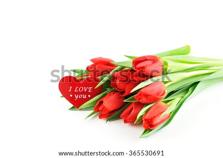 Tulips with love