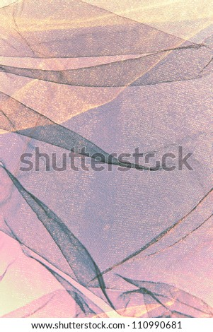 tulle abstract  background in purple and yellow - stock photo