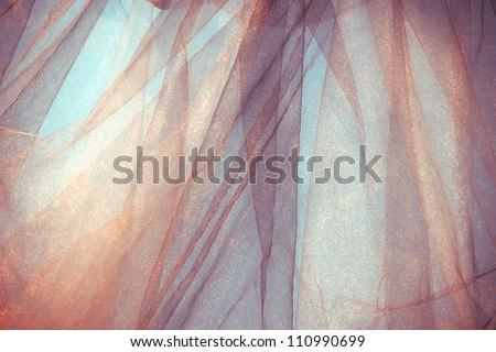 tulle fantasy background, back light, horizontal - stock photo