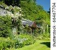 Tullynally Castle Gardens, County Westmeath, Ireland - stock photo
