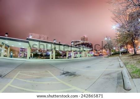 tulsa city skyline around downtown - stock photo
