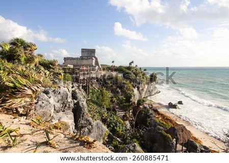 tulum ancient Mayan archaeological site yucatan mexico