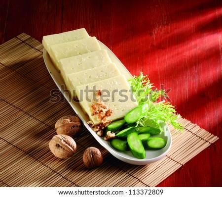 tulum cheese - stock photo