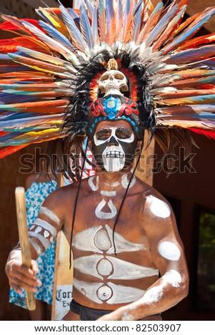 Aztec Headress Man 91