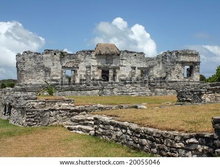 Tulum Ruins Halach Uinic - Mexico - stock photo