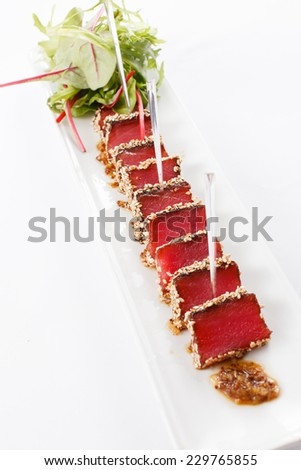 tuna appetizer - stock photo