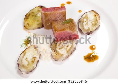 tuna belly - stock photo