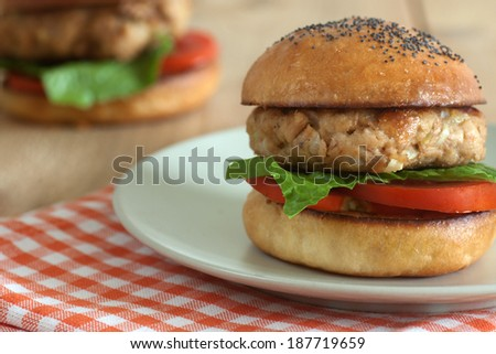 Tuna burger - stock photo