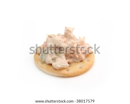 tuna fish on cracker