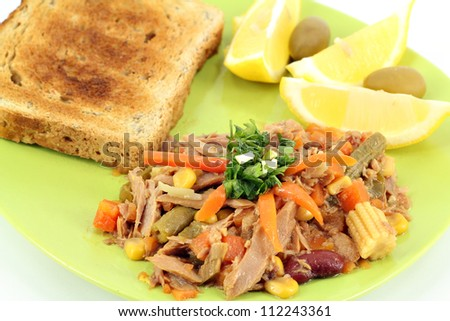 tuna fish salad - stock photo