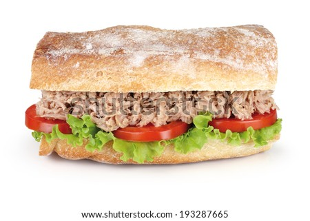 tuna sandwich - stock photo
