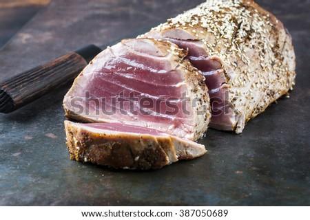 Tuna Steak - stock photo