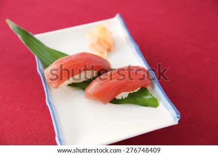 Tuna sushi - stock photo