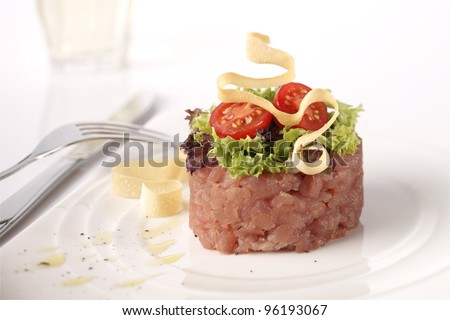 Tuna Tartar - stock photo