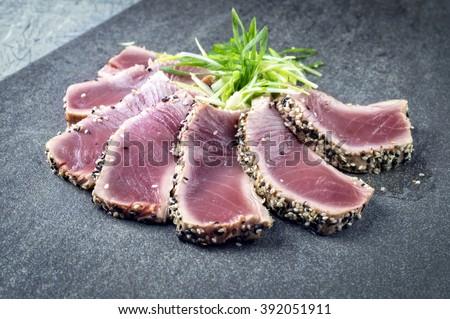 Tuna Tataki - stock photo