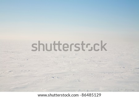 Tundra is an icy desert - stock photo