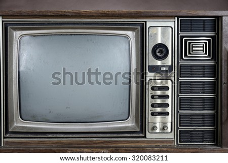 Tuner of vintage television - stock photo