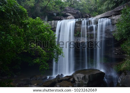Tung na muang waterfall in Thailand