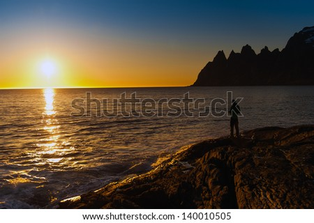 Tungeneset, Senja, Norway ,Decline,fisherman
