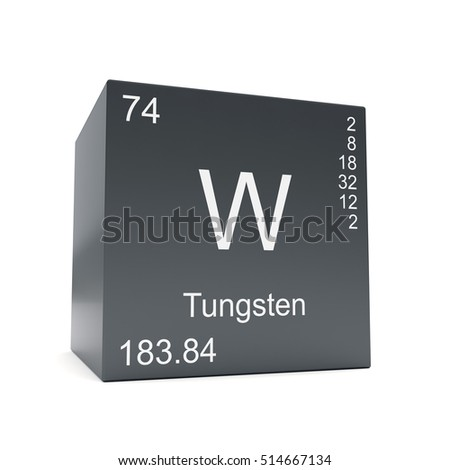 Tungsten chemical element symbol periodic table stock illustration tungsten chemical element symbol from the periodic table displayed on black cube 3d render urtaz Choice Image