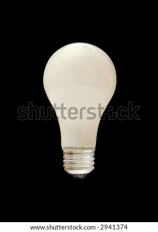tungsten light bulb with clipping path - stock photo