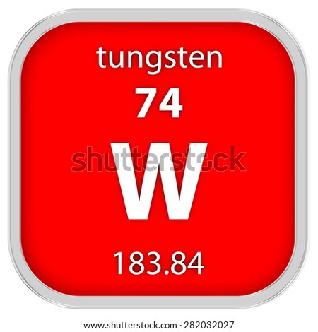 Tungsten material on periodic table part stock illustration tungsten material on the periodic table part of a series urtaz Gallery