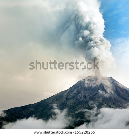Tungurahua volcano, Ecuador - stock photo