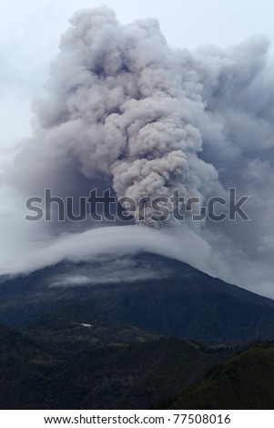 Tungurahua volcano eruption ,May 2011, Ecuador, South America. - stock photo