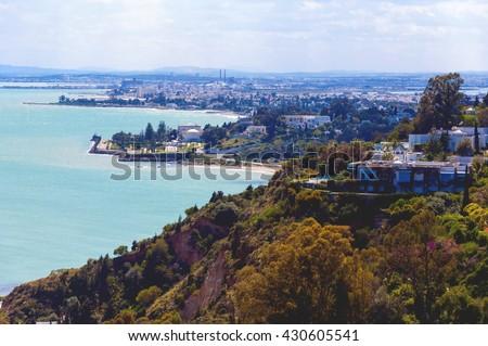Tunis coast - stock photo