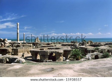 Tunisia. Ancient Carthage. General view of Antonine Baths