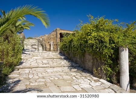 Tunisia. Ancient Carthage. Quarter of the Roman villas - stock photo
