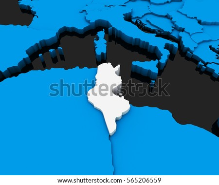 Tunisian Map Stock Images RoyaltyFree Images Vectors - Tunisia earth map
